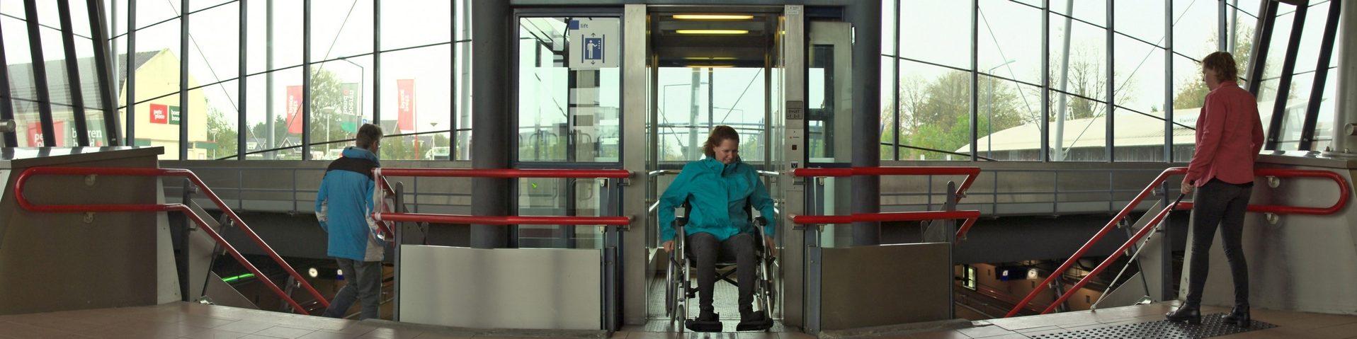 Trappen en lift station